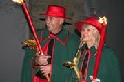 Das neue Chriesipaar Walter und Marianne Grollimund. (Bild: Sepp Odermatt (Kehrsiten, 12. Januar 2019))