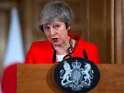 «Es ist Zeit, die Spielchen zu vergessen»: die britische Premierministerin Theresa May. (Bild: KEYSTONE/EPA POOL/WILL OLIVER / POOL)
