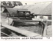 Die Murgkanalbrücke auf dem Bleicheareal. (Bild: PD)