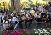Der Handharmonika-Club im Restaurant Waldegg in Teufen. (Bild: PD)