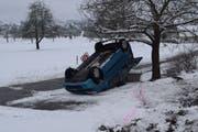 Die Unfallstelle in Müswangen. (Bild: Luzerner Polizei)