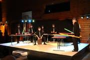 Besondere Auftritte boten die MGR-Drummers mit einem Boomwhacker-Feuerwerk. (Bild: Max Pflüger)