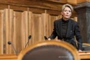 Um ihre Nachfolge geht es: Die ehemalige St.Galler FDP-Ständerätin und heutige Bundesrätin Karin Keller-Sutter. (Bild: Keystone)