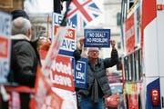 Demonstration von Brexit-Befürwortern vor dem Sitz des britischen Parlaments in London. (Bild: Henry Nicholls/Reuters (London, 9. Januar 2019))