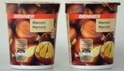 Vorsicht beim Konsum von Marroni-Joghurts von Denner – es könnten sich Glassplitter in den Bechern befinden.