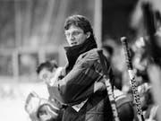 Als Trainerneuling sorgte Arno Del Curto 1992 für ein bebendes Hallenstadion (Bild: KEYSTONE/KARL MATHIS)