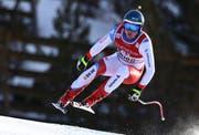 Niels Hintermann auf dem Weg zu Rang 14 in Bormio. (Bild Alessandro Trovati/AP Photo (Bormio, I28. Dezember 2018))