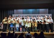 Der Kinderchor singt gemeinsam mit dem Männerchor Egg-Oberwangen. (Bilder: Christoph Heer)