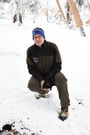 Christof Gantner, Regionalförster der Waldregion Toggenburg 5, auf dem winterlichen Rundgang. (Bild: Urs M. Hemm)