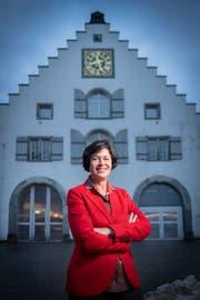 Barbara Frei vor dem Waaghaus, dem Tagungsort des St.Galler Stadtparlaments. (Bild: Urs Bucher/14. Januar 2019)