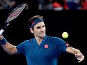 Dürfte am Mittwoch mehr ins Schwitzen kommen als in der 1. Runde: Roger Federer spielt gegen Daniel Evans in der Nachmittagssonne (Bild: KEYSTONE/AP/AARON FAVILA)