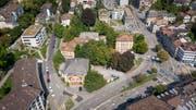 Das Areal am Platztor in St.Gallen. Hier soll der neue Campus der Universität St.Gallen entstehen. (Bild: Urs Bucher)