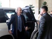 Geir Pedersen, der neue Uno-Sondergesandte für Syrien, will sich in Damaskus mit Aussenminister Walid al-Muallim treffen. (Bild: KEYSTONE/EPA/YOUSSEF BADAWI)