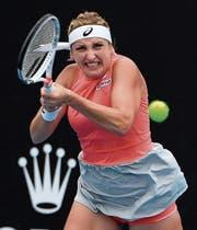 Nach der Verletzungspause wieder mit viel mehr Biss: Timea Bacsinszky. (Bild: Andy Brownbill/AP (Melbourne, 15. Januar 2019))