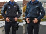 Links die alte, rechts die neue Jacke der St.Galler Stadtpolizisten. (Bild: Stapo SG)