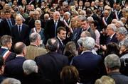 Frankreichs Präsident Emmanuel Macron bei der gestrigen Lancierung der Volksdebatte. (Bild: Philippe Wojazer/AP (Bourgtheroulde, 15. Januar 2019))
