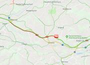 Zwischen Oberbüren und Gossau ereignete sich ein Unfall. (Bild: Screenshot TCS)