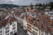 Blick vom Luzerner Rathausturm auf die Altstadt. (Bild: Pius Amrein, 14. September 2018)