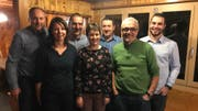 Das OK des 50-Jahr-Jubiläums und der Neuinstrumentierung 2021 (von links): Hans Müller, Regula Gisler,, Alois Gisler, Luzia Arnold, Hanssepp Gisler, Anton Gisler und Patrick Gisler. (Bild: PD (Haldi, 11. Januar 2019))