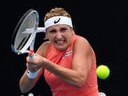 Eine brillante Leistung: Timea Bacsinszky deklassierte die Nummer 10 des Turniers (Bild: KEYSTONE/AP/ANDY BROWNBILL)