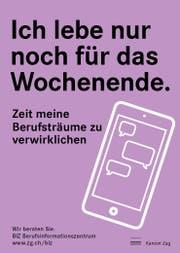 Ein Motiv der neuen Plakatwelle des BIZ. (Bild: PD)