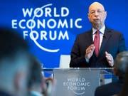 Weltwirtschaftsforum warnt vor vielen Risiken. (Bild: KEYSTONE/LAURENT GILLIERON)
