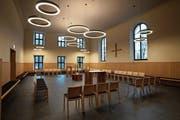 Blick in die umfassend sanierte Studentenkapelle im Kloster Engelberg. (Bild: Kurt Scheuber/PD)