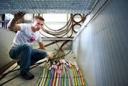 Das in den vergangenen Jahren gebaute flächendeckende Glasfasernetz könnte St.Gallen helfen, zur Smart City zu werden. (Bild: Urs Bucher - 5. Juli 2012)