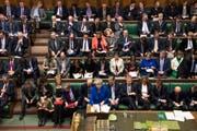 Die britische Premierminister Theresa May während der Parlamentsdebatte vom Mittwoch. (Bild: Mark Duffy, AP (London, 16. Januar 2019))