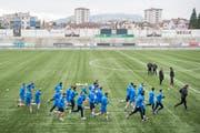 Im Falle des Aufstiegs müsste der FC Wil Änderungen am eigenen Stadion vornehmen, um die Anforderungen der Liga zu erfüllen. (Bild: Urs Bucher)