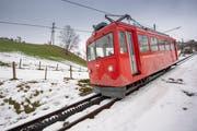 Die Rheineck-Walzenhausen-Bahn ist seit 1896 in Betrieb – und jetzt akut gefährdet. (Bild: Urs Bucher)