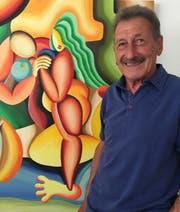 Maler Walter Kaufmanns Bilder sind von intensiven Form- und Farbkombinationen geprägt. (Bild: PD)