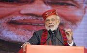 Der indische Premierminister Narendra Modi. Bild: Sanjay Baid/EPA (Dharamsala, 27. Dezember 2018)