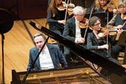 Der Pianist Rudolf Buchbinder spielt mit dem Luzerner Sinfonieorchester. (Bild: Eveline Beerkircher (KKL Luzern, 16. Januar 2019))