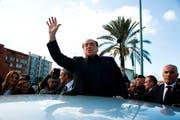 Italiens ehemaliger Premierminister Silvio Berlusconi. Bild: Fabio Murru/AP (Monserrato, 17. Januar 2019)