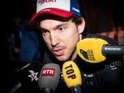 Carlo Janka ist in Wengen jeweils ein gefragter Interviewpartner (Bild: KEYSTONE/JEAN-CHRISTOPHE BOTT)