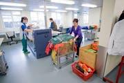 Die Wäscherei der Stiftung Behindertenbetriebe Uri. (Bild: PD)