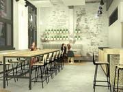 Der Kundenbereich im neuen Café.