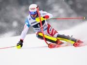 Der Speed-Spezialist Mauro Caviezel zeigte vor allem im Slalom eine starke Leistung, in der nachfolgenden Abfahrt vergab er dann die Podestplatzierung (Bild: KEYSTONE/ANTHONY ANEX)