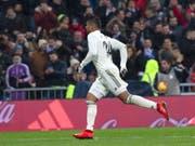 Casemiro ebnete Real Madrid dank einem herrlichen Weitschuss zum 1:0 den Sieg gegen den FC Sevilla (Bild: KEYSTONE/EPA EFE/RODRIGO JIMENEZ)