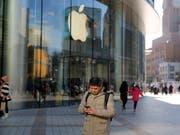 Vor allem in China lief das Geschäft für Apple im letzten Quartal schlechter als erwartet. (Bild: KEYSTONE/EPA/WU HONG)