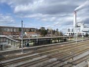 Die Gleise des Bahnhofs St. Johann in Basel - hier kam es zu den gefährlichen Sabotageaktionen. (Bild: Keystone/GEORGIOS KEFALAS)