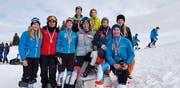 Die Kategoriensieger der Nidwaldner Slalomkonkurrenz. Bild: Eskil Läubli (Klewenalp, 20. Januar 2019)