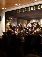 Die Musikgesellschaft Muolen verabschiedet sich vom Adlersaal. (Bild: Judith Schönenberger)