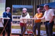 Pietro Menghini, Bernadette und Urs Brandenburger sowie Ernst Graf sprechen über Burnout. (Bild: Martin Brunner)