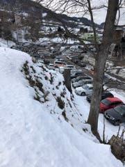 Die Unfallstelle befand sich weder auf der Skipiste noch auf dem offiziellen Schlittelweg. (Bild: Kapo SG)