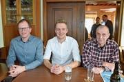 Sie wollen neu in den Gemeinderat: Daniel Stamm, Janik Bosshard und Fabian Heil. (Bild: Christoph Heer)