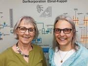Die kaufmännischen Leiterinnen bei der Dorfkorporation: Kathrin Bucher, bisher, pensioniert (links), und Daniela Herzog, ab 1. Januar. (Bild: PD)