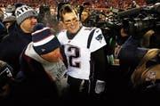 Bill Belichick (vorne) und Tom Brady. (Bild: EPA (Kansas City, 20. Januar 2019))
