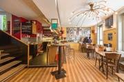 Die Genossenschaftsbeiz «Schwarzer Engel» an der Engelgasse 22 in St.Gallen wurde 1986 als Nachfolger verschiedener alternativer Beizen gegründet. Das Restaurant wird bis heute von einem Kollektiv geführt. (Bild: Samuel Schalch - 24. August 2016)